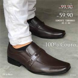Sapato Foot Care Café Couro 5018