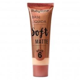 Base Líquida Ruby Rose Soft Matte Bege 6