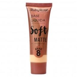 Base Líquida Ruby Rose Soft Matte Bege 8