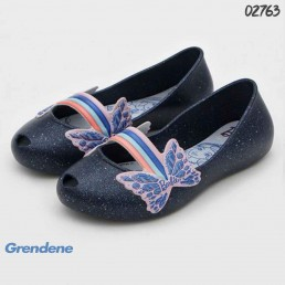 Sapatilha Grendene Kids Barbie Azul Gliter Borboleta 22222