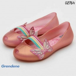 Sapatilha Grendene Kids Barbie Rosa Borboleta 22222