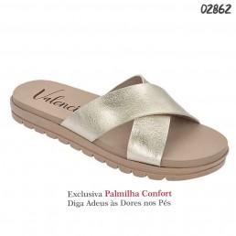 Sandália Valenciana Confort 1101 Dourado