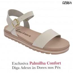 Sandália Valenciana Confort 1107 Baunilha