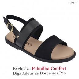 Sandália Valenciana Confort 1008 Preta