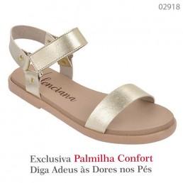 Sandália Valenciana Confort 1009 Dourado